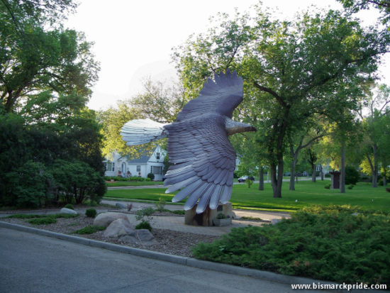 Eagle Statue at Custer Park