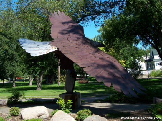 Custer Park Eagle Statue