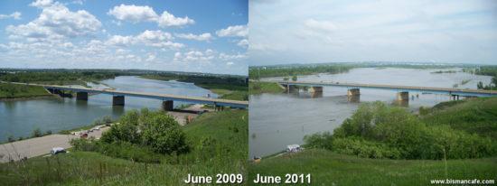 2009 & 2011 River Scene Comparison