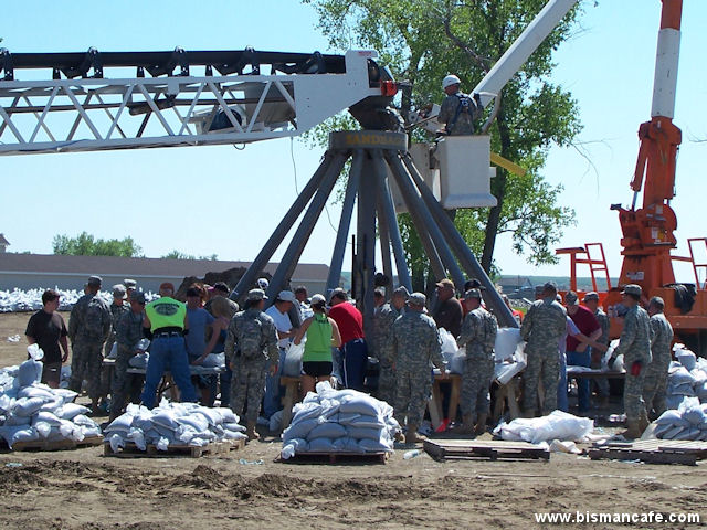 Sandbagging Operations at Raging Rivers