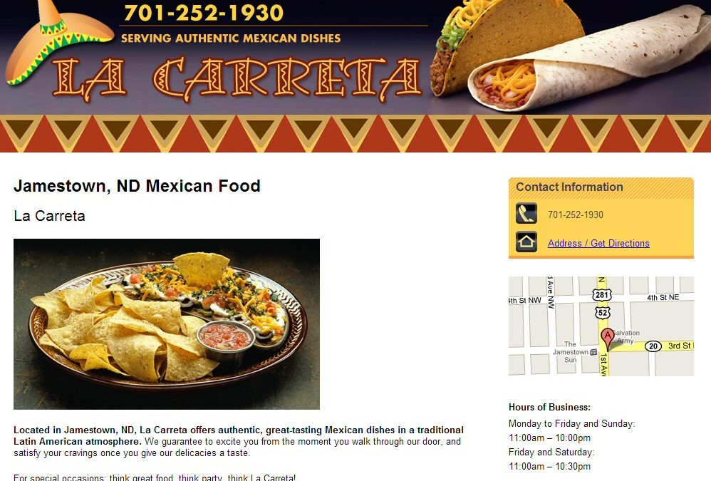 La Carreta Website