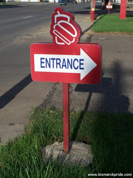 Burger Time Entrance Sign