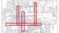 Divide, 4th, 19th, and Washington Street 3-Lane Conversion Map