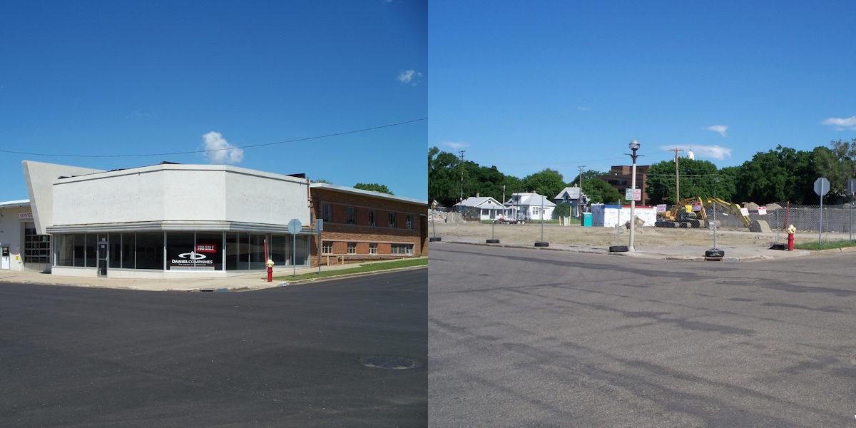 Former Fleck Motors/Wilhelm Buick Building Comparison
