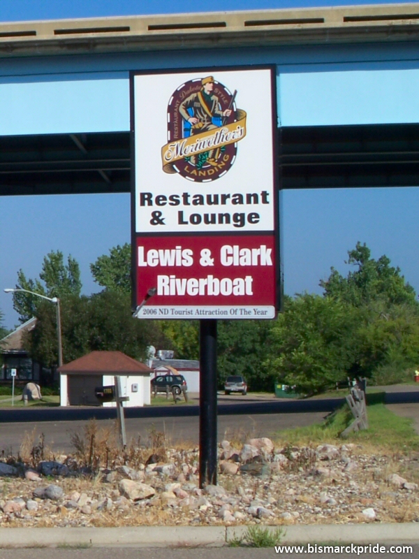Captain Meriwether's Landing Restaurant Sign