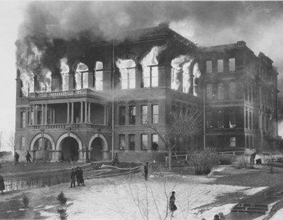 Fire Consumes Original North Dakota State Capitol Building