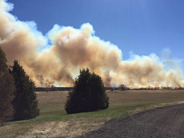Fire South of Bismarck (4/13/2015)
