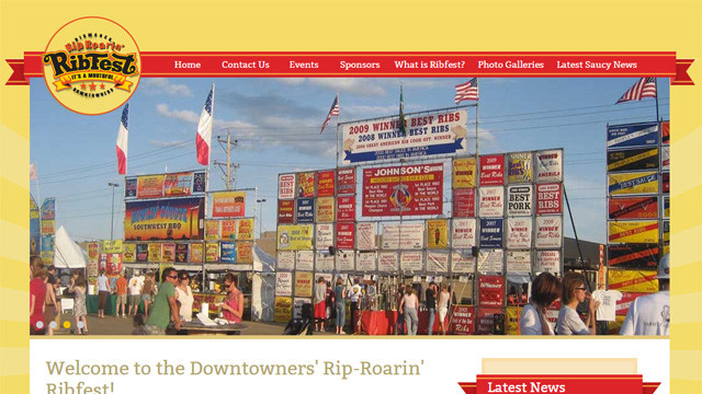 Rip-Roaring Ribfest Website