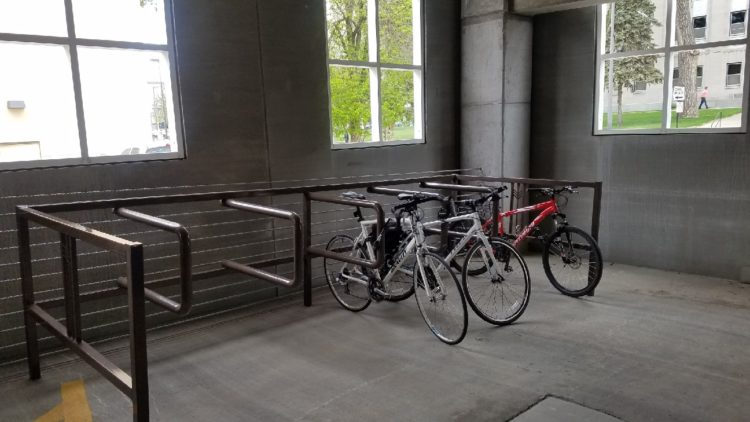 Indoor Bicycle Parking In Downtown Bismarck Provides New Option