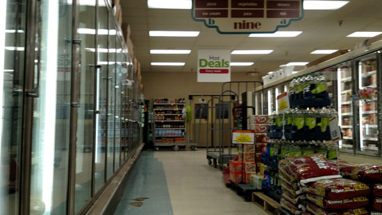 Arrowhead Dan's Supermarket interior in 2018