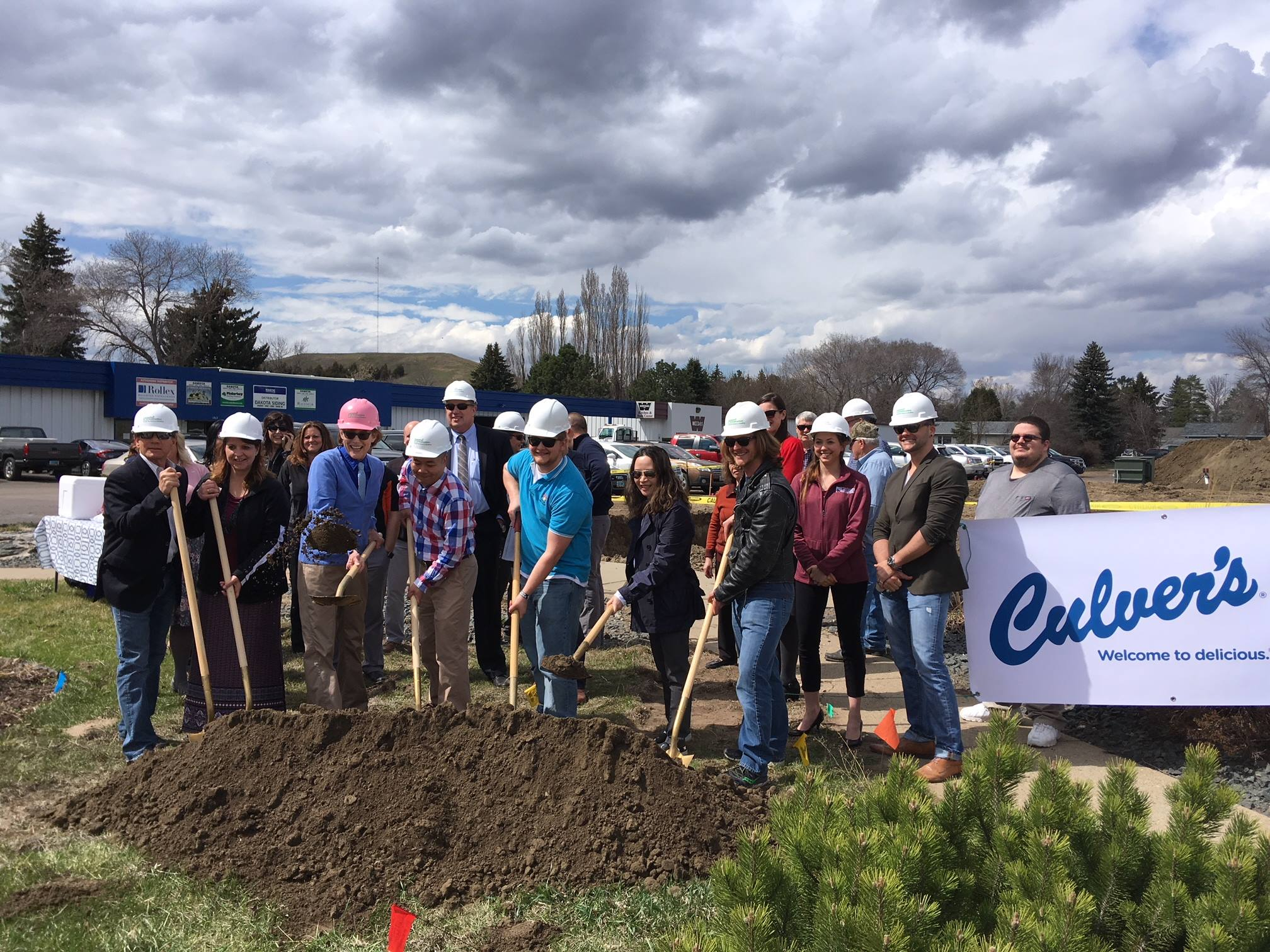 Culver's ground breaking in Mandan, May 2, 2018.